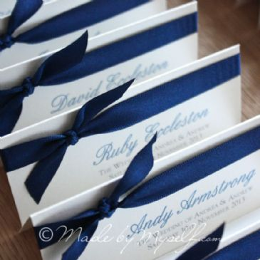 Tied Ribbon Place Card